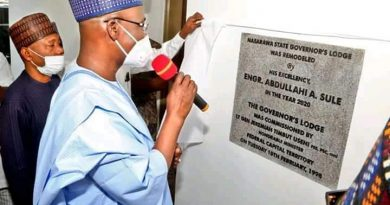 Governor Sule Commissions Refurbished Nasarawa Governor's Lodge Asokoro